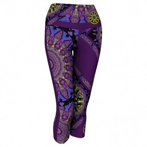 'Phylactery' Asheville Yoga Capris - front