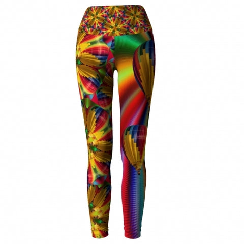 Prism Balloon Yoga Leggings front Wendy Newman Designs