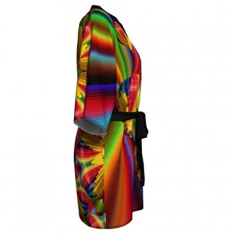 Rainbow Balloon Kimono side 2 Wendy Newman Designs