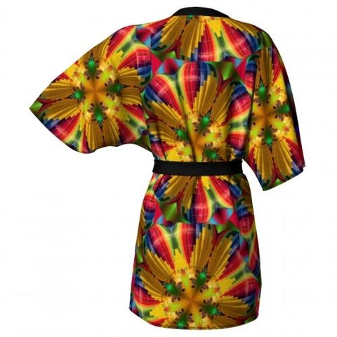 Rainbow Balloon Kimono back Wendy Newman Designs