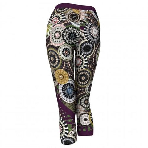 Silenus Winery Yoga Capris Back