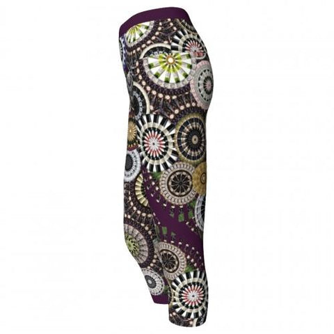 Silenus Winery Yoga Capris Side