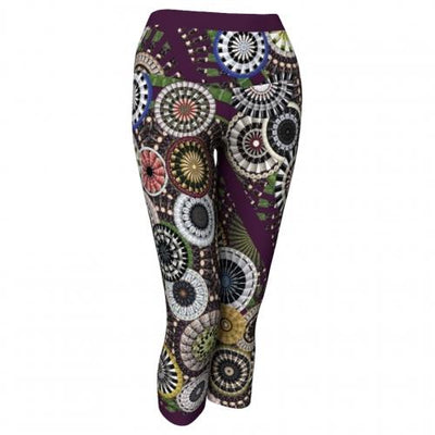 Silenus Winery Yoga Capris Front