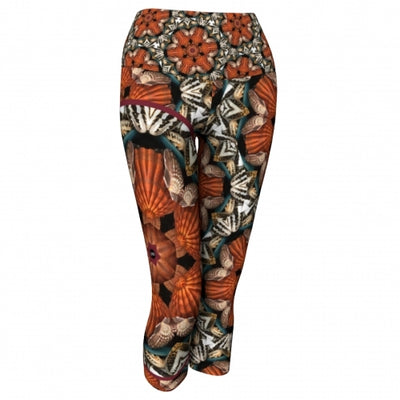 Triteia Seaside Yoga Capris front Wendy Newman Designs