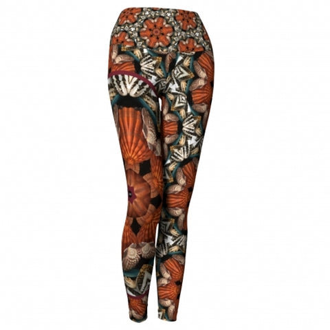 Triton Seaside Yoga Leggings front Wendy Newman Designs
