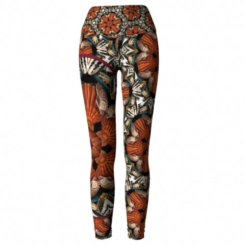 Triton Seaside Yoga Leggings front 2 Wendy Newman Designs