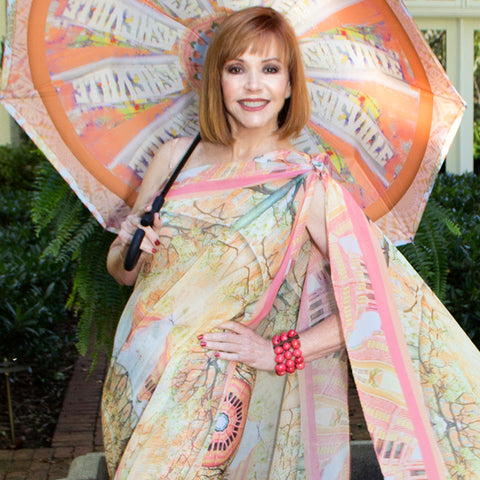 Caracole Asheville Umbrella Wendy Newman Designs and scarf
