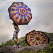 Kismet Asheville Umbrella Wendy Newman Designs and leggings