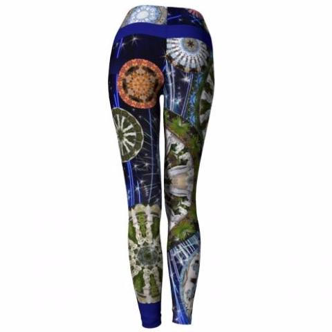 'Luminary' Vizcaya Yoga Leggings - back