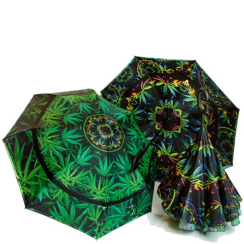 'Goodvibes' Cannabis Chic Umbrella