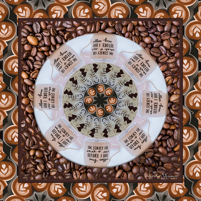Latte Coffee Scarf Wendy Newman Designs