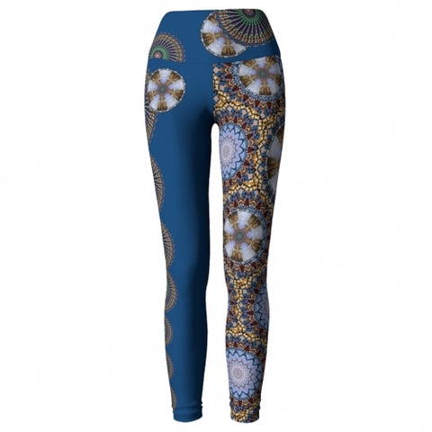 Deliquescence Charleston Yoga Leggings front view 2 Wendy Newman Designs
