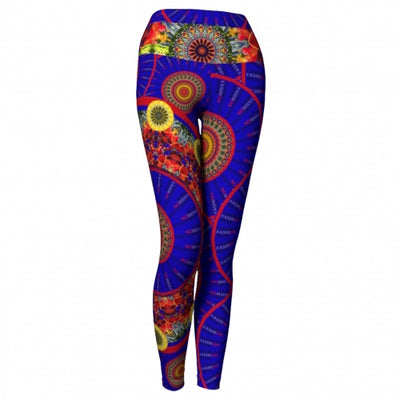 Irreverence Charleston Yoga Leggings front Wendy Newman Designs
