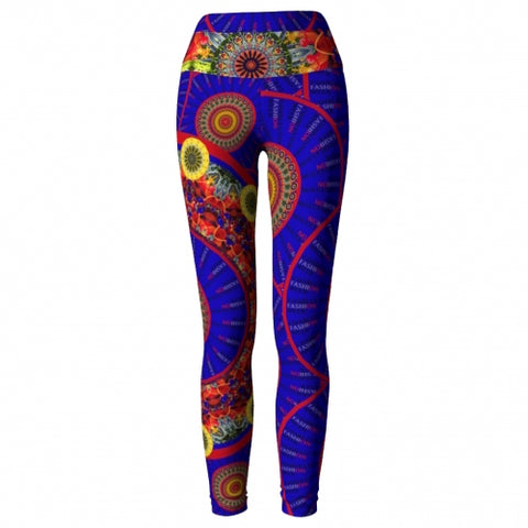 Irreverence Charleston Yoga Leggings front view 2 Wendy Newman Designs