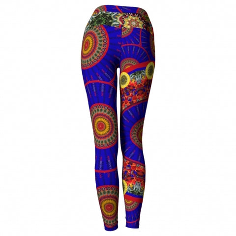Irreverence Charleston Yoga Leggings back view Wendy Newman Designs
