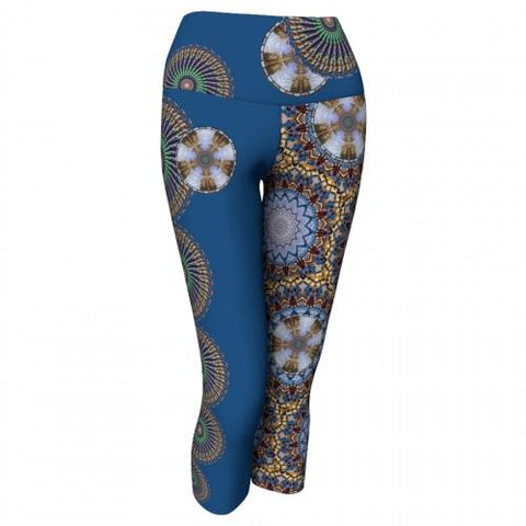 Mellifluence' Charleston Yoga Capris front Wendy Newman Designs