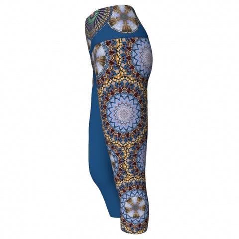 Mellifluence' Charleston Yoga Capris side Wendy Newman Designs