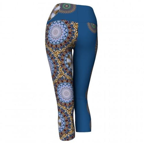 Mellifluence' Charleston Yoga Capris back Wendy Newman Designs