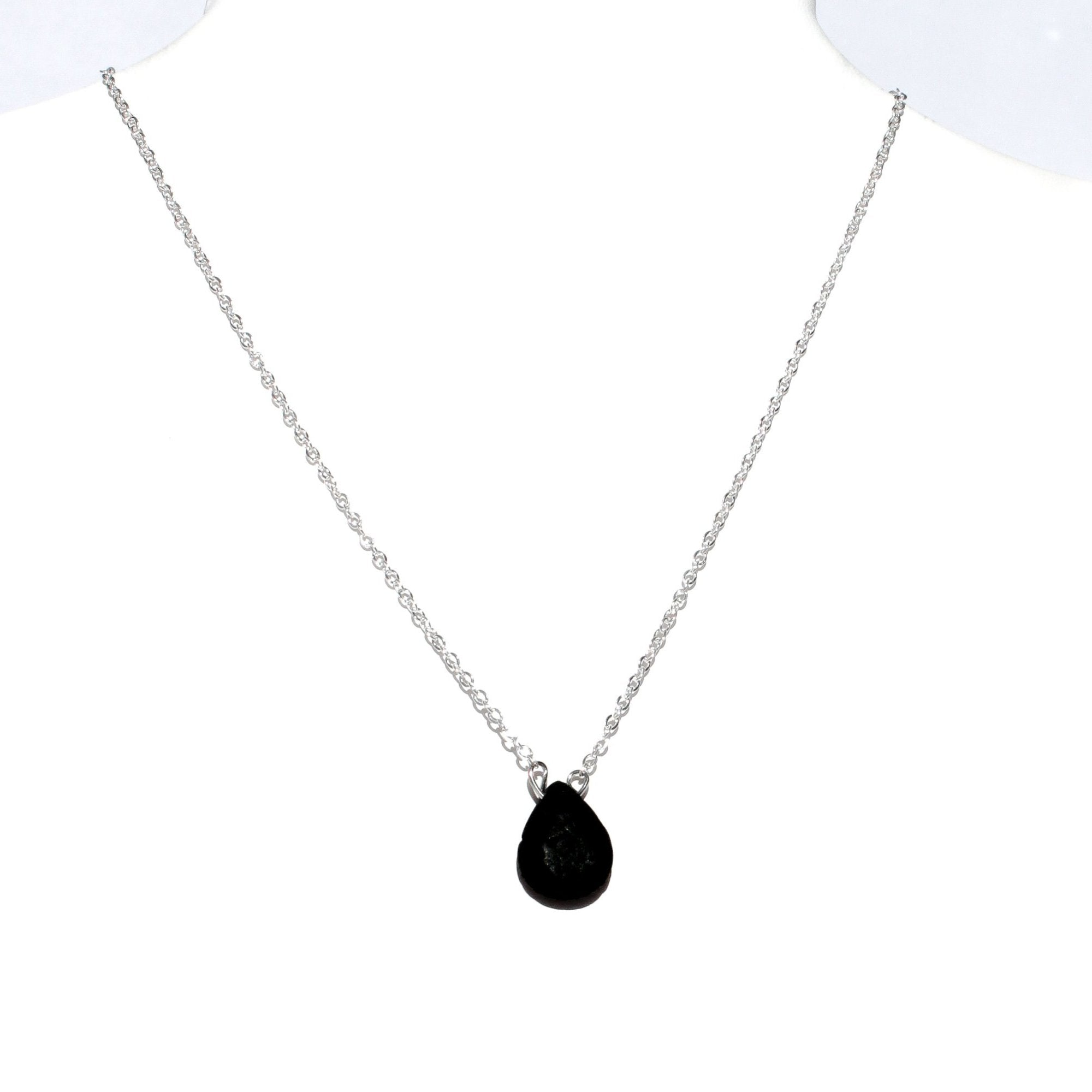 Tear Drop Lava Stone Necklace