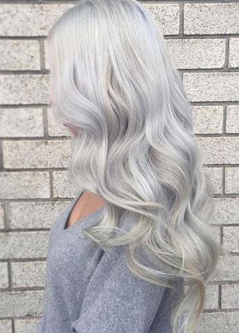 Silver hair is one of the hottest hairstyles of 2016