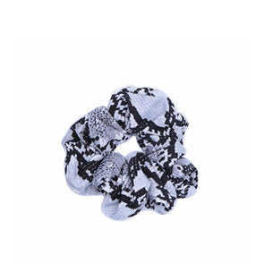 Scrunchie - Black Snakeskin