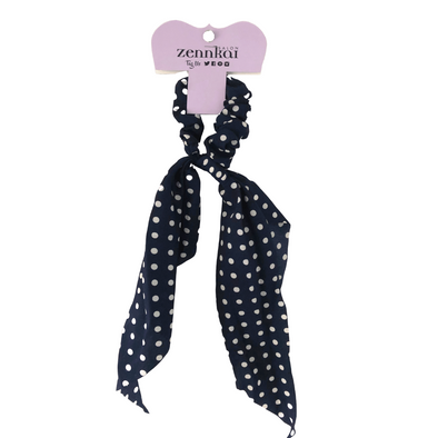 Polka dot Scrunchie- Navy