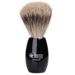 Dovo Black Pure Badger Hair Shaving Brush - 918 052 - Jimmy Figg's Bare-knuckle Barber - Beard/Shaving Product