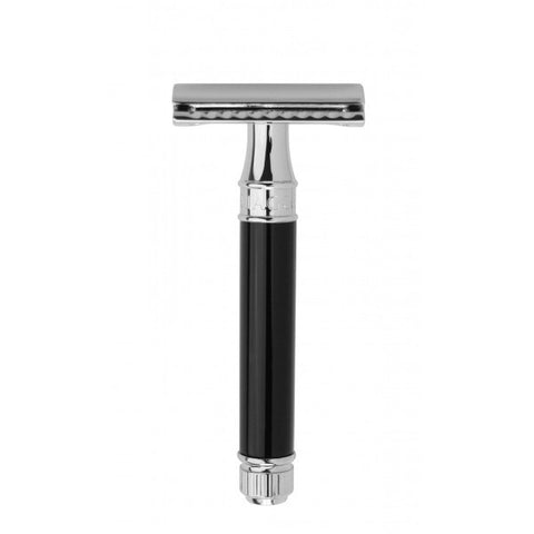 Edwin Jagger Safety Razor DE86 Ebony - Jimmy Figg's Bare-knuckle Barber - Beard/Shaving Product - 1