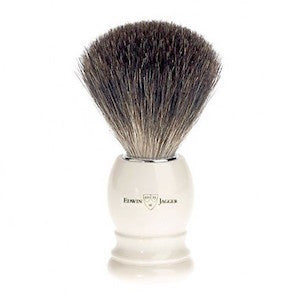 Edwin Jagger Best Badger Shaving Brush 81P27 Faux Ivory - Jimmy Figg's Bare-knuckle Barber - Beard/Shaving Product