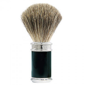 Edwin Jagger Pure Badger Shaving Brush Ebony - Jimmy Figg's Bare-knuckle Barber - Beard/Shaving Product