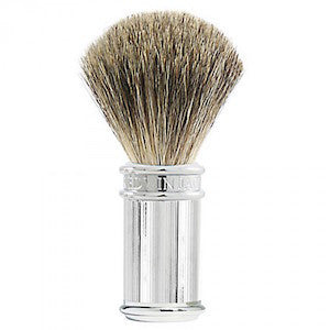 Edwin Jagger Pure Badger Shaving Brush Lined Chrome - Jimmy Figg's Bare-knuckle Barber - Beard/Shaving Product
