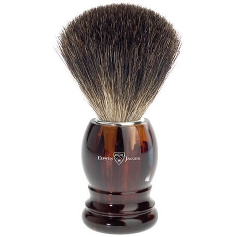 Edwin Jagger Best Badger Shaving Brush 81P23 Tortoiseshell - Jimmy Figg's Bare-knuckle Barber - Beard/Shaving Product - 1