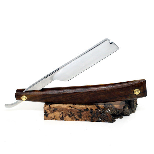 Handmade - Le Luxe O1 Cutthroat Straight Razor, Rosewood - Jimmy Figg's Bare-knuckle Barber - Beard/Shaving Product - 1