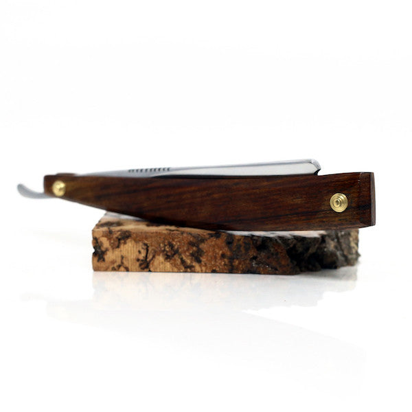 Handmade - Le Luxe O1 Cutthroat Straight Razor, Rosewood - Jimmy Figg's Bare-knuckle Barber - Beard/Shaving Product - 2
