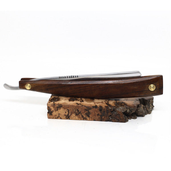 Handmade - Le Luxe O1 Cutthroat Straight Razor, Rosewood - Jimmy Figg's Bare-knuckle Barber - Beard/Shaving Product - 3
