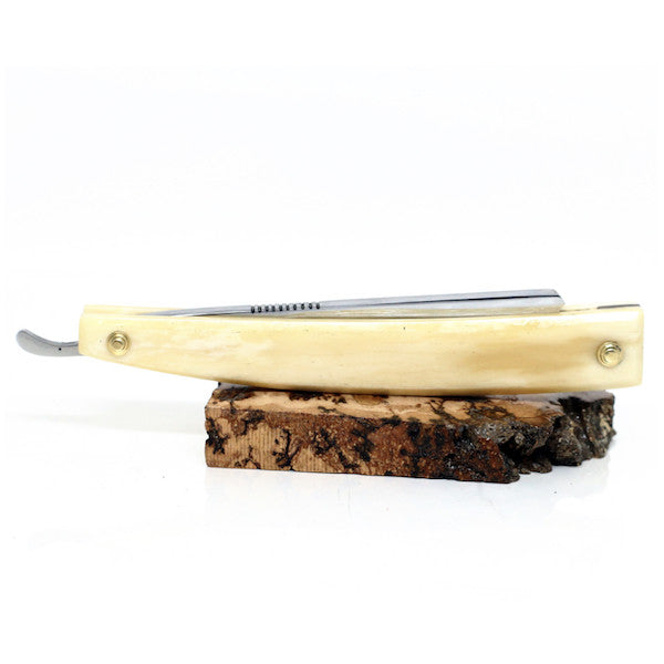 Handmade - Le Luxe O1 Cutthroat Straight Razor, Camel Bone - Jimmy Figg's Bare-knuckle Barber - Beard/Shaving Product - 2
