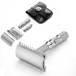 Merkur 985 Travel Double Edge Safety Razor - Open Comb - Jimmy Figg's Bare-knuckle Barber - Beard/Shaving Product
