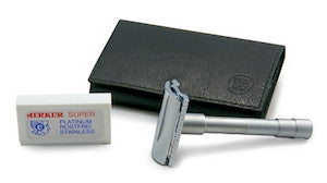 Merkur 46C Travel Double Edge Safety Razor - Jimmy Figg's Bare-knuckle Barber - Beard/Shaving Product - 2