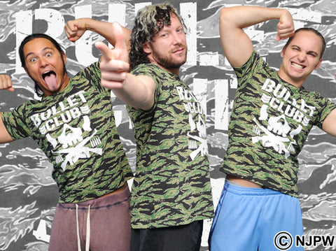 Matt Jackson Worn Bullet Club Camo Shirt