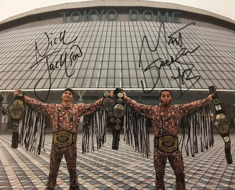 Young Bucks Triple Tag Champs 8x10 Autographed