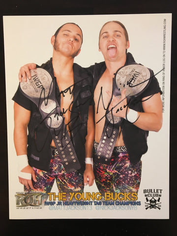 Young Bucks ROH IWGP Jr. Tag Champs 8x10 Autographed