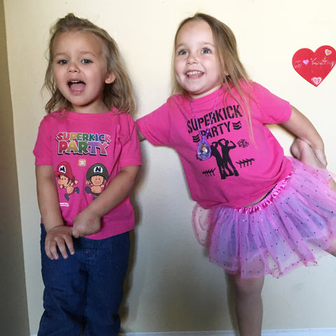 Kids Superkick Bros Pink