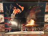 TEXAS DEATH MATCH FLAMING TABLE *LIMITED EDITION* AUTOGRAPHED 8x10