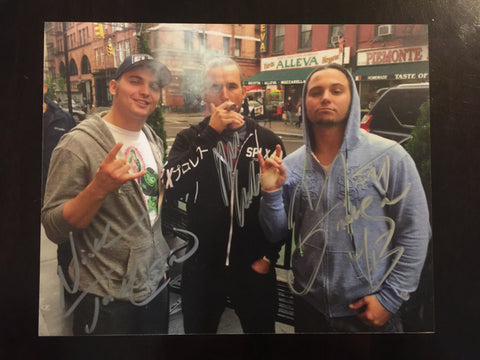 Adam Cole & Young Bucks Autographed 8x10
