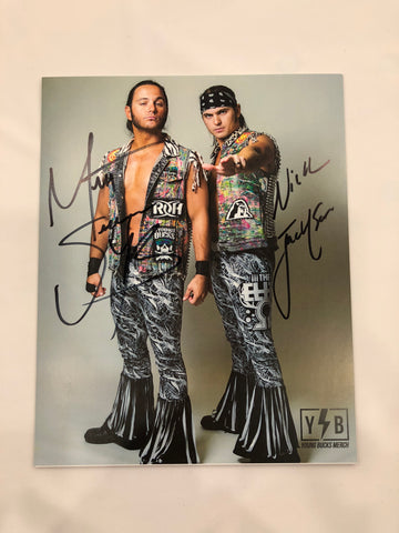 Young Bucks 2018 8x10 Autographed