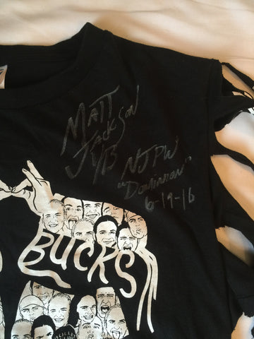 "Matt Jackson Ring Worn (tassled) T-Shirt from NJPW ""Dominion"""