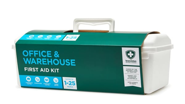 Brenniston National Standard Office & Warehouse First Aid Kit is lightweight and easy to grab and run to an emergency