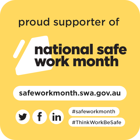 Proud supporter of National Safe Work Month 2021 icon