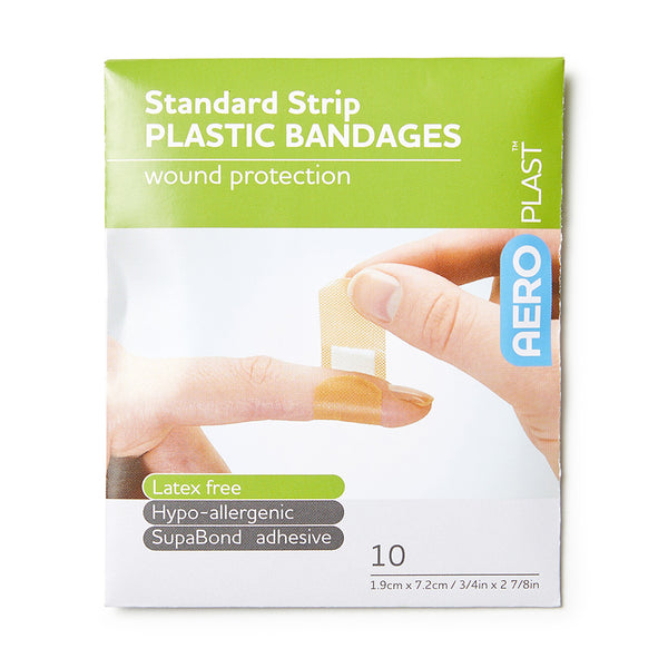 Plastic Dressing Strips Latex Free 1.9cm x 7.2cm (10)