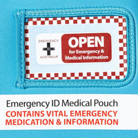 Medical Emergency ID Pouch - Blue - Medium